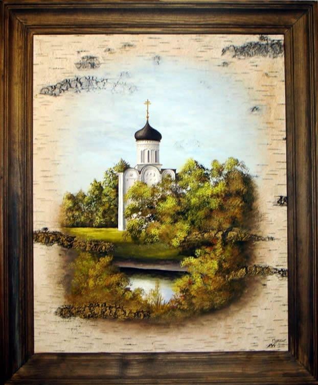 Церковь Покрова на р.Нерли, Заонежье-Живопись на бересте